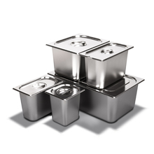 Stainless Steel Steam Table Water Pan with Lid,Food Pan For Food Warmer Buffet Server for Parties, Restaurants, Catering Supply
