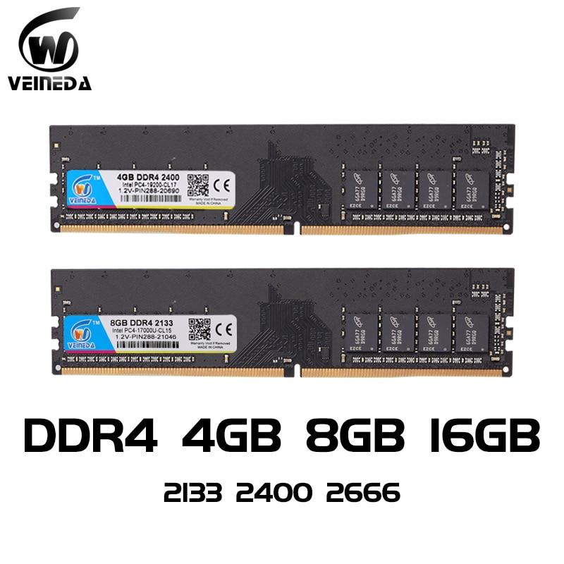 Память VEINEDA для ПК, ОЗУ для компьютера, Тип памяти-ddr4, частота-2133 МГц/2400 МГц
