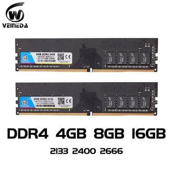 VEINEDA ddr4 8 gb PC Computer RAM 4GB 8GB 4G 8G Memory DDR 4 PC4 2133 2400 2666Mhz Desktop Motherboard Memoria 288-pin