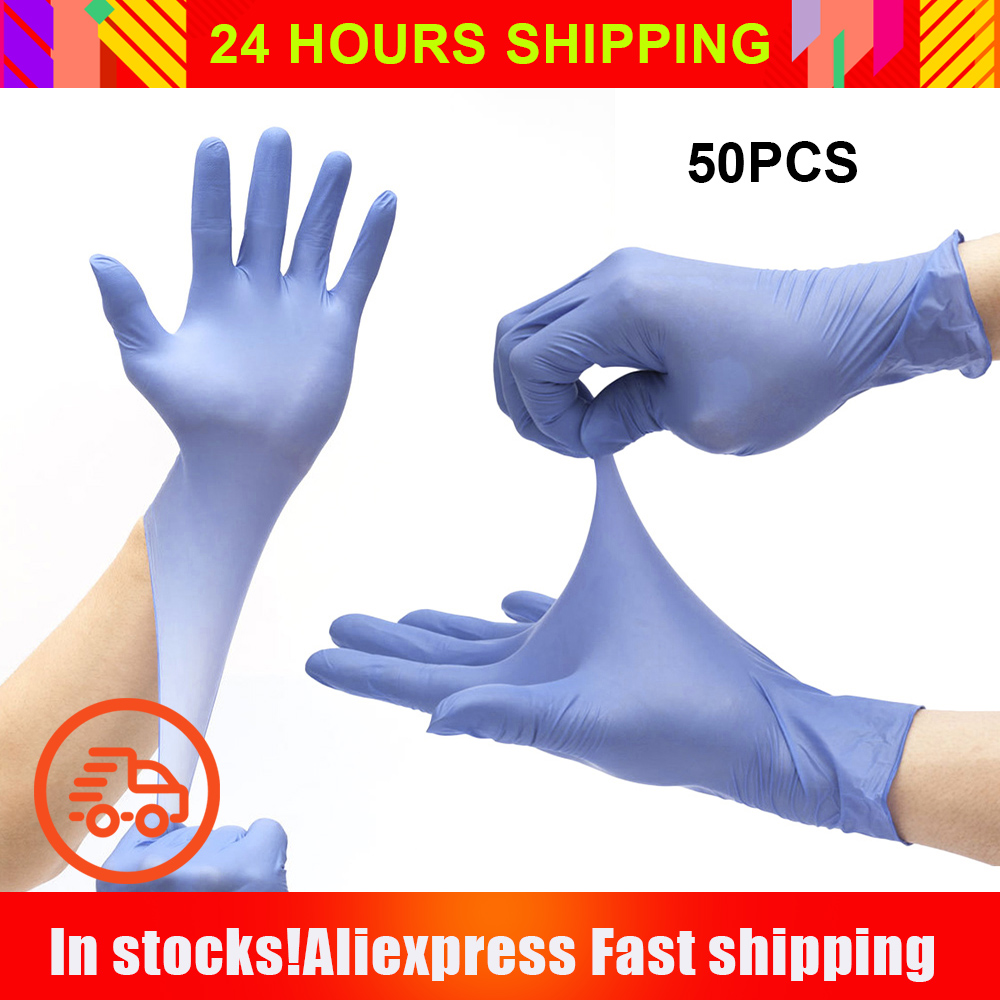 Disposable Nitrile Gloves 100/PCS Protective Gloves Nitrile Labor Protection R?kawiczki Nitrylowe Rękawiczki Jednorazowe