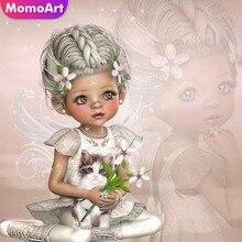 MomoArt Diamond Painting Girl Princess Mosaic Full Drill Square Rhinestone Embroidery Portrait Home Decor