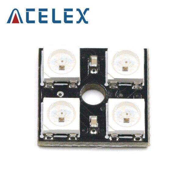 4 Bit WS2812 5050 RGB LED Square Board