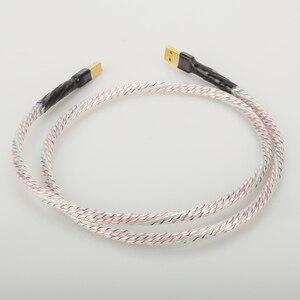 Image 3 - Hifi Nordost Valhalla Top bewertet Versilbert + schild USB Kabel Hohe Qualität Typ A zu Typ B Hifi daten Kabel Für DAC