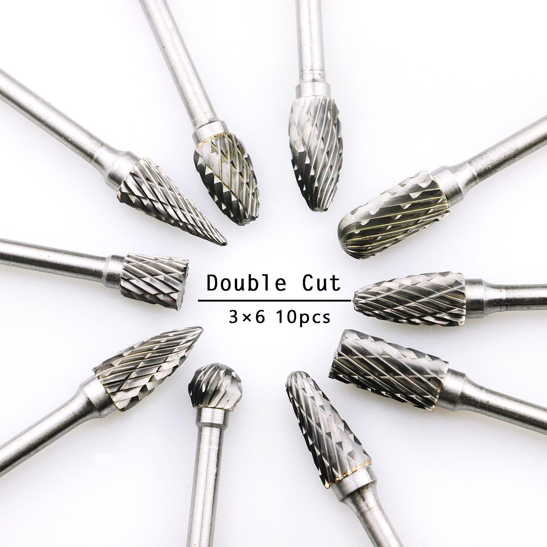 Die Grinder Burrs Double Cut Metal Grinding Bits Professional CARBIDE BURR SET