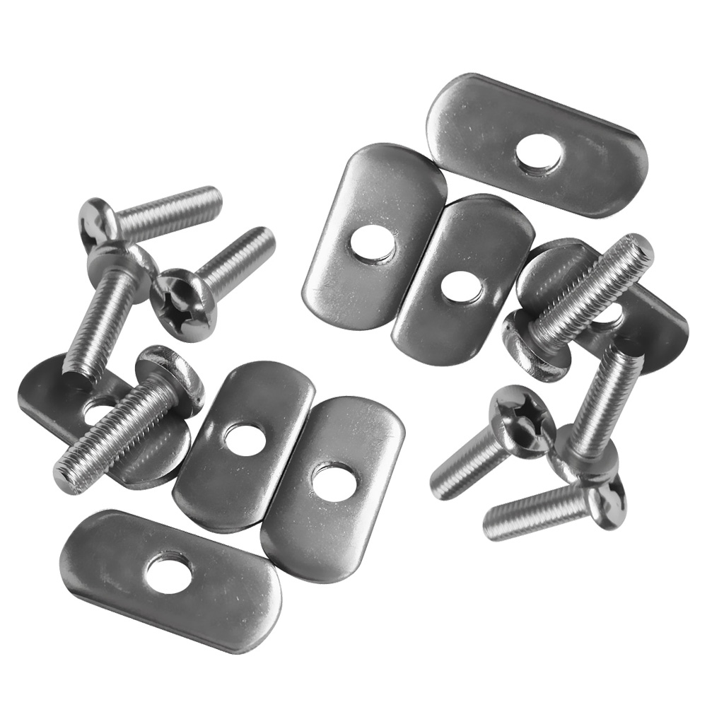 8 X Stainless Steel Kayak Rail Screws And Nuts For Kayaks Canoes Boats Rails