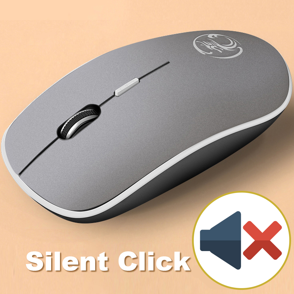 iMice Wireless Mouse Silent Computer Mouse 1600 DPI Ergonomic Mause Noiseless Sound USB PC Mice Mute Wireless Mice for Laptop 5