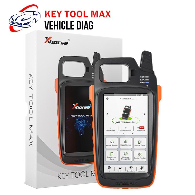 Newest Xhorse KEY TOOL MAX Frequency Transponder Remote Key Maker Car Key Programmer VVDI Key Tool Max OBD2 Key Programmer