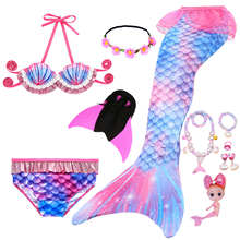 2021 NEW!Children Mermaid Tail with Monofin Kids Girls Costumes Swimming Mermaid Tail Mermaid Swimsuit Flipper for girls