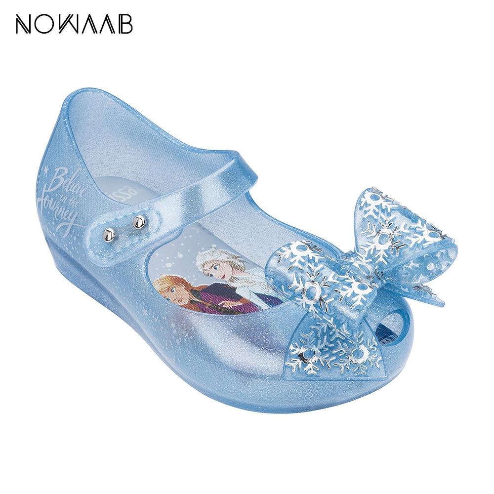 Mini Melissa Snow Princess Girl Sandals