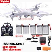 Syma x5c/x5c-1 rc quadcopter zangão com câmera ou syma x5 rc helicóptero zangão