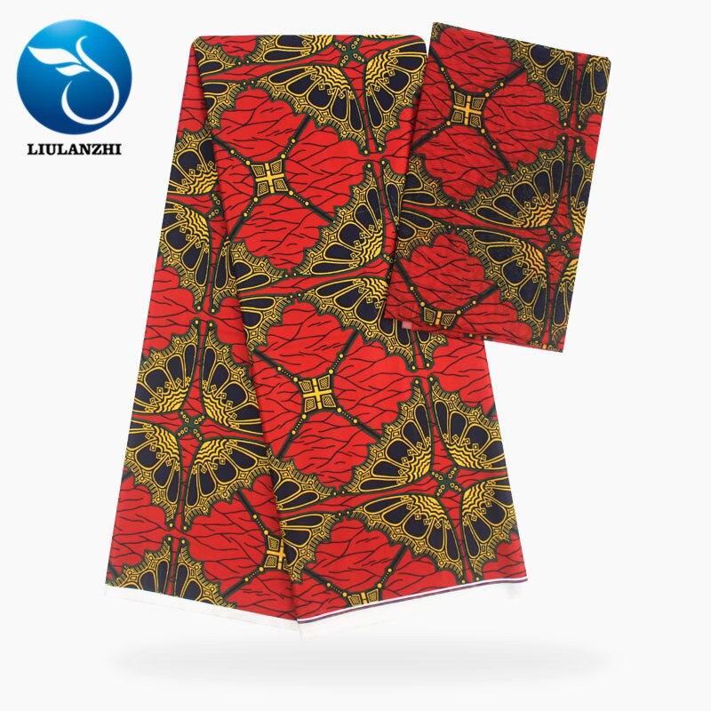 LIULANZHI Blouse africaine en mousseline de soie tissu pour la couture 2019 nouvelles impressions cire Ankara en mousseline de soie lacets ML9X53-69
