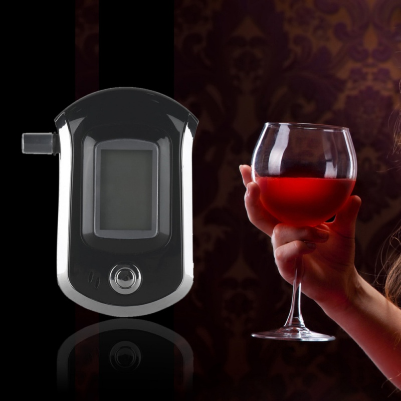 Professional Digital Breath Alcohol Tester Breathalyzer With LCD Dispaly With11 Mouthpieces AT6000 Hot Selling