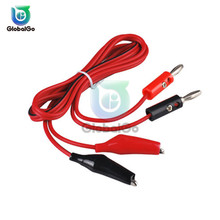 Metal Alligator Clip Crocodile Electrical Clamp Testing Probe Meter Car Auto Battery USB Double-ended Crocodile Clips Cable Wire pair silver auto car aluminum magnesium battery terminal clamp clips connector