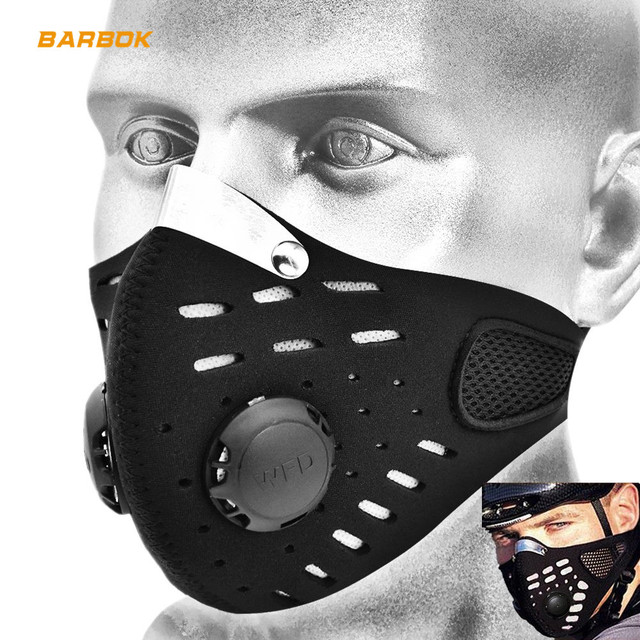 WOSAWE Safety Motorcycles Masks Filter Breathable Dustproof Motorbike Respirator Sports Protection Mouth Face Shield Visor