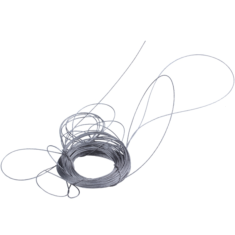 WSFS Hot STAINLESS Steel Wire Rope Cable Rigging Extra, Length:25m Diameter:1.0mm