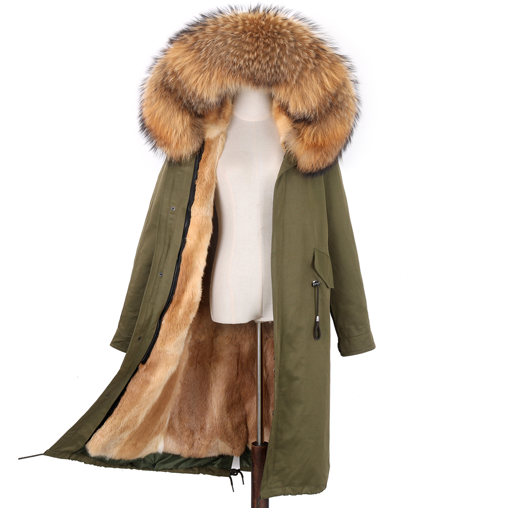 2020 NEW Parkas Natural Fur Women's Parka Real Fur Fox Fur Coat With Hood  Rex Rabbit Fur Iiner Winter Jacket Natural Fur Parkas - Special Price #D707    Cicig