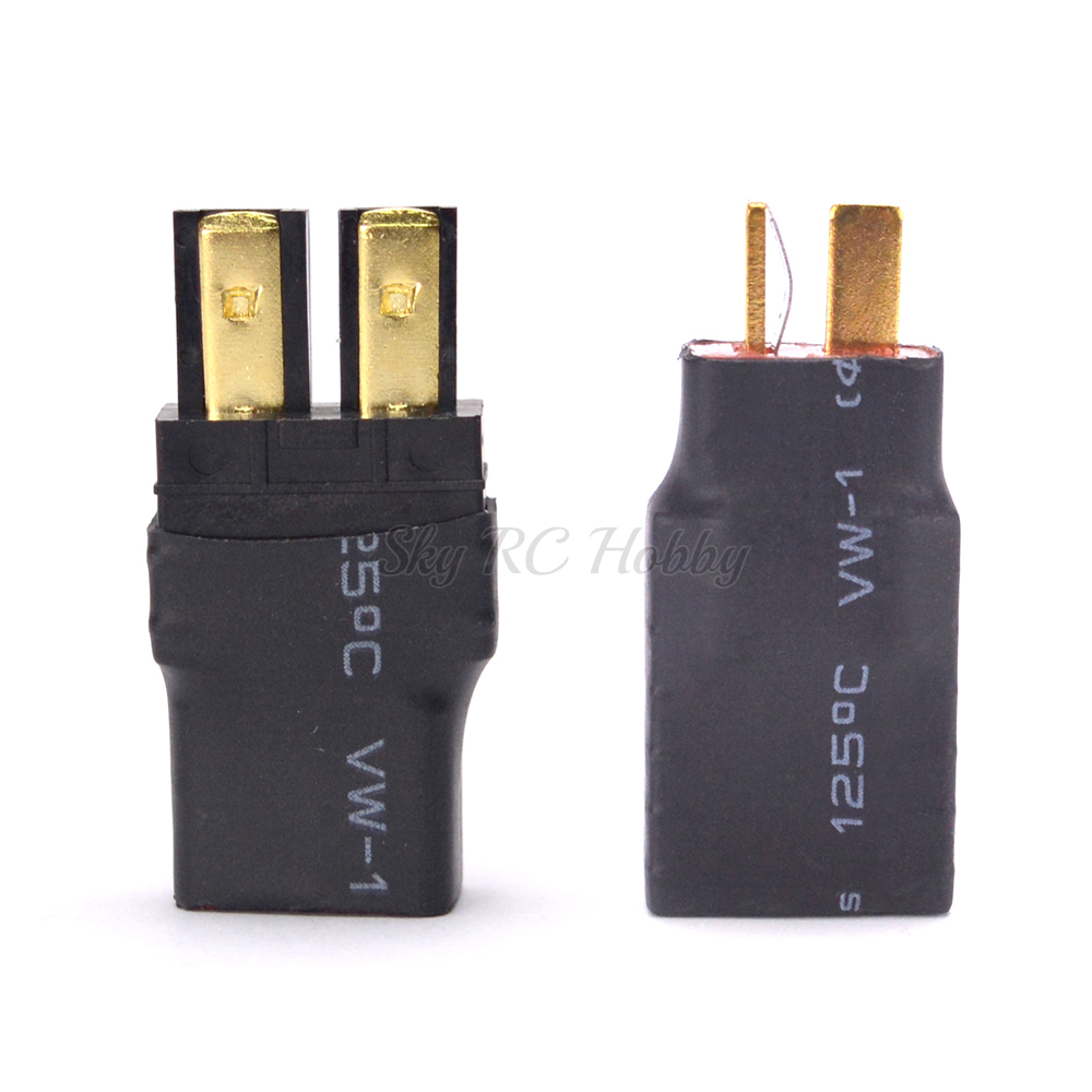 Youme Male Deans to Female TRX Traxxas Connector Wireless Adapter RC Charger Slash E Revo (2pcs//lot)
