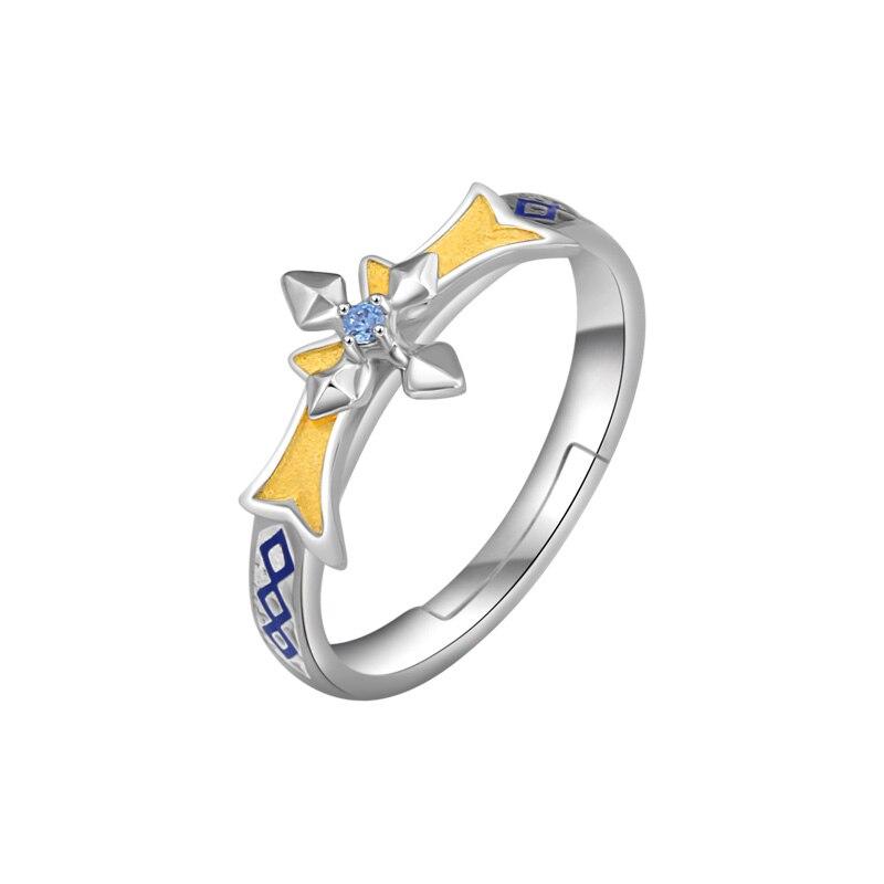 Épée Art en ligne alicisation 3 Alice Cosplay S925 bague en argent Sterling hommes femmes réglable bijoux cadeau d'anniversaire - 5