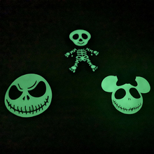 Enamel-Pendants Necklace-Making Glow-In-Dark Skeleton for Halloween Kids 10pcs/Bag Newest