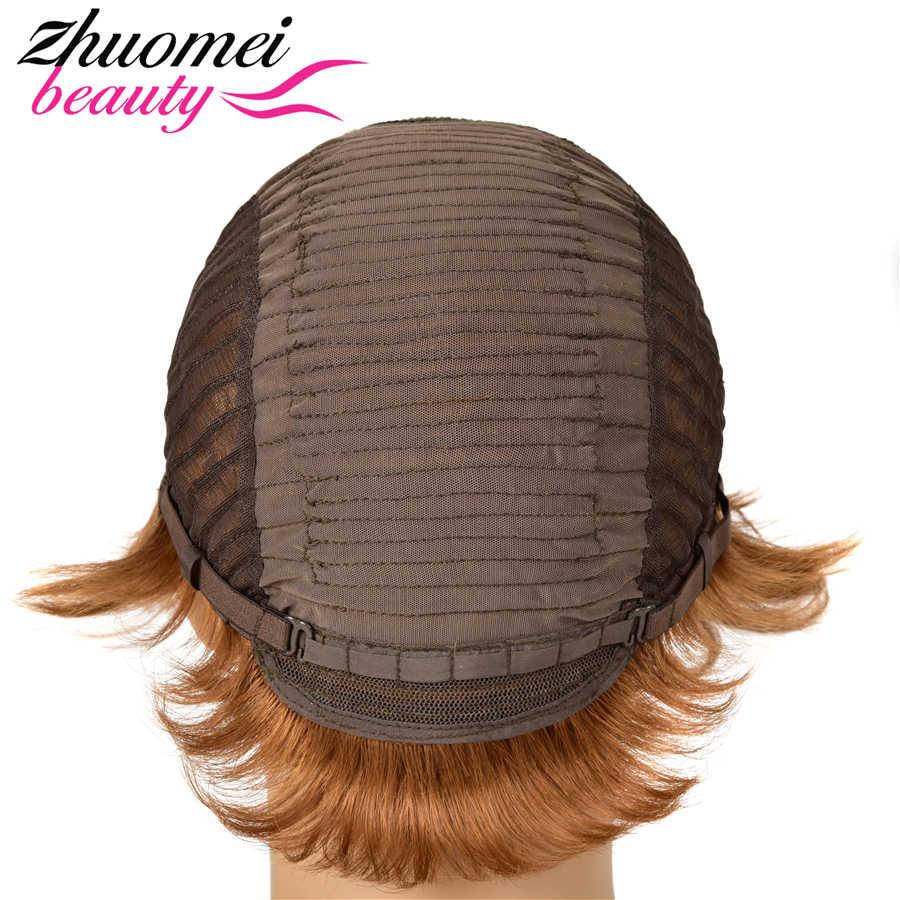 ピクシーカット人毛かつら #30 フル mechine 女性のための 1pc/2 個は購入