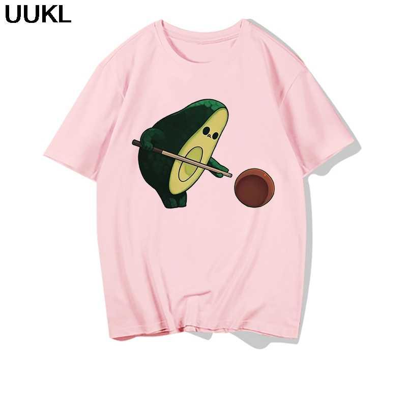 Uukl Camisas Mujer 2020 Estate Sezione Sottile Bianco T Shirt Harajuku Kawaii Vegan Avocado Tshirt Tempo Libero Moda Femminile T-Shirt