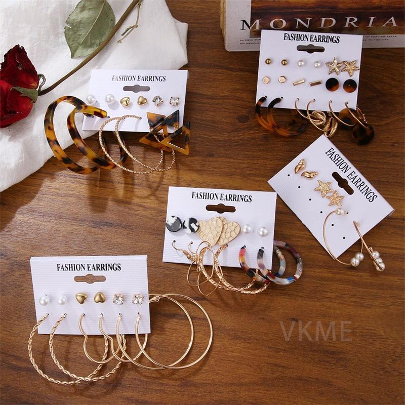 VKME Fashion Pearl Drop Earrings set 2020 brincos earrings for women New Girls earrign Jewellery Party gifts