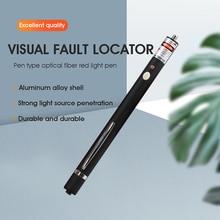 Free shipping Pen type 10MW Visual Fault Locator 5 10km fiber optic pen red light source test pass pen