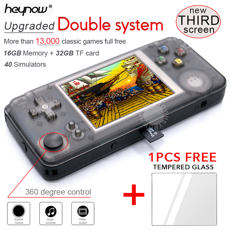 HEYNOW Console Game-Player Retro-Game 64bit 40-Emulators Double-System Portable Handheld