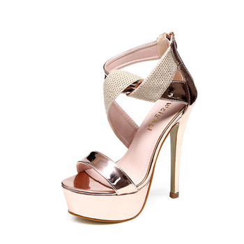 New type of women sandals fashion sexy heel model T stage shows high nightclub high-end womens shoes