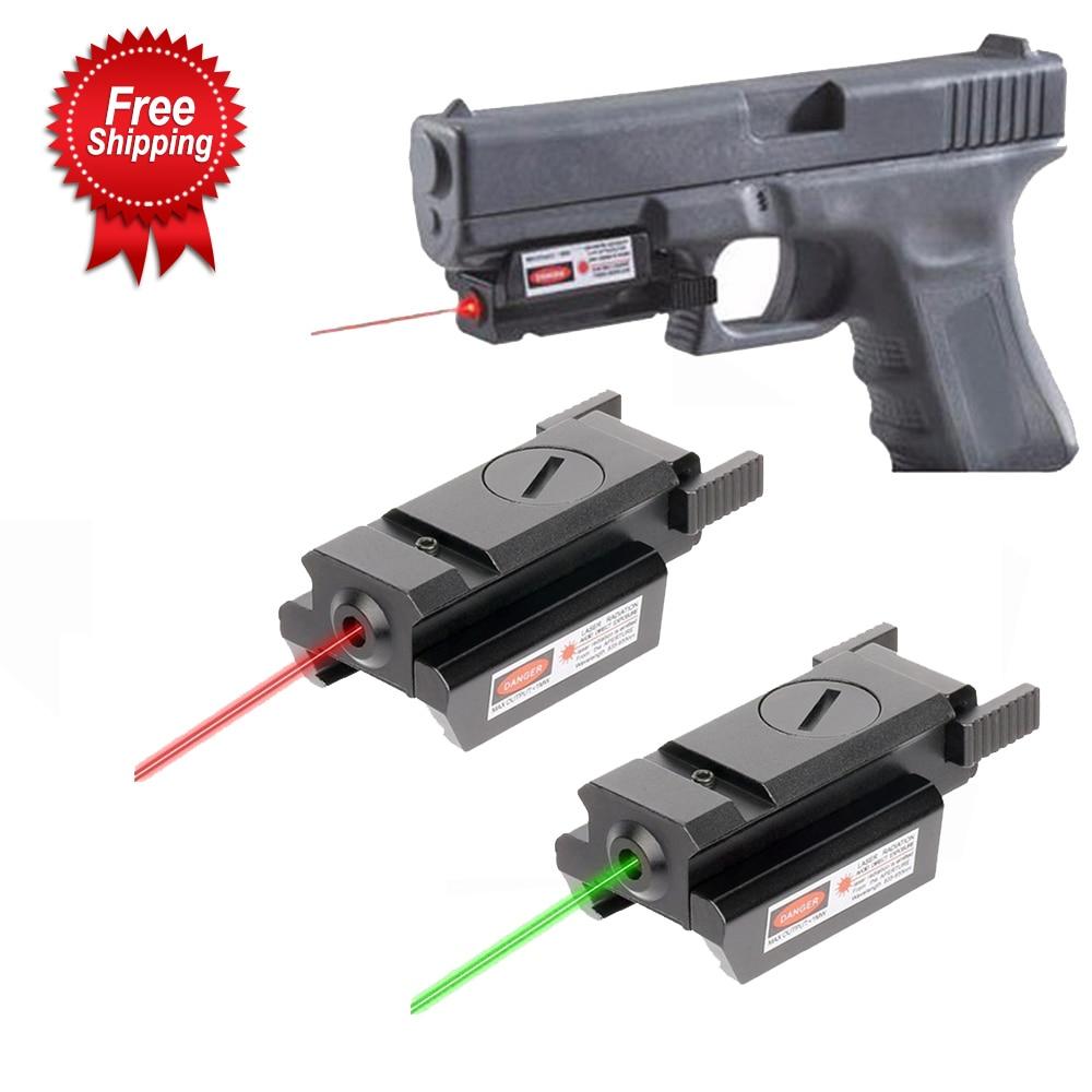 Red/Green Laser Sight and Glock Flashlight Combo Tactical Rifle Lights Pistol Guns Glock 17,19, 22 Series Hunting Laser Sight-0