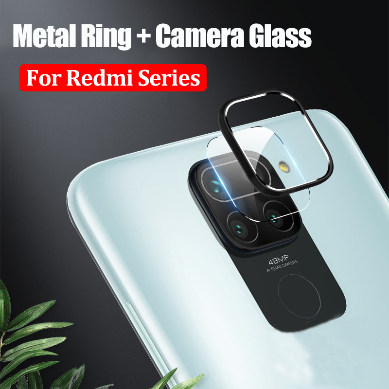 Camera Protector Glass For Xiaomi Redmi 10X Note 9S 9 Pro Max Tempered Glass & Lens Protective Ring Case For Redmi Note 9 Pro(China)