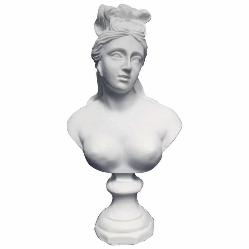 David venüs Athena Sona tanrıça büstü sanat heykel reçine el sanatları süslemeleri ev Mini alçı heykeli sanat malzemesi R3230