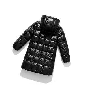 Image 5 - A15 2019 الأزياء فتاة الملابس طويلة أسفل ملابس الشتاء الفتيان أسفل سترة الاطفال الدافئة ضوء مقنعين معاطف التين قميص معطف بركة (سترة من الفراء بقبعة للقطب الشمالي)