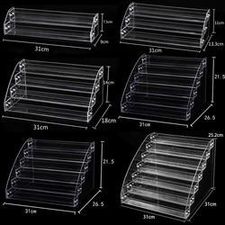 Новый модный многоуровневый прозрачный пластиковый стеллаж для лака для ногтей, бытовой держатель для солнцезащитных очков, косметический...