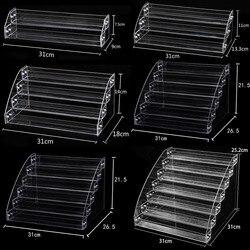 New Fashion Multilayer Clear Plastic Nail Polish Rack Household Sun Glasses Holder Cosmetic Nail Polish Organize Storage Shelf