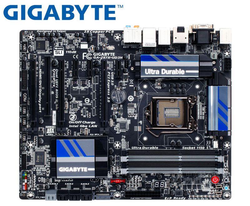 GIGABYTE GA Z87X UD3H desktop Motherboard for intel LGA 1150 DDR3 32GB USB2.0 USB3.0 Z87X UD3H Z87 used mainboard PC BOARDS|Motherboards| |  - title=