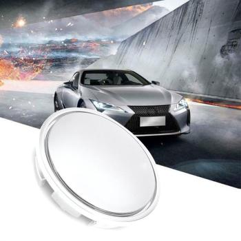 1P Universal 65mm Chrome Car Wheel Center Cap Tyre CC Cover Plastic Passat Hub Rim Cap Sagitar ABS For Magotan R8C3 image
