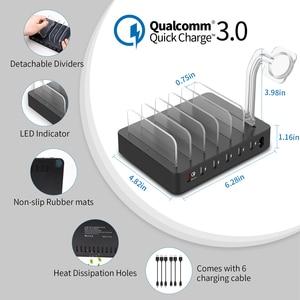 Image 3 - NTONPOWER szybka stacja ładująca stacja dokująca 60W wieloportowa ładowarka USB z szybkim ładowaniem QC 3.0 dla iphonea ipad Kindle Tablet