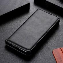 Cassa del telefono per Samsung Galaxy A51 A71 Caso di Copertura Della Pelle Bovina di Cuoio Magnetica Antiurto Slot Per Scheda di Vibrazione Della Cassa Libro per Samsung a51