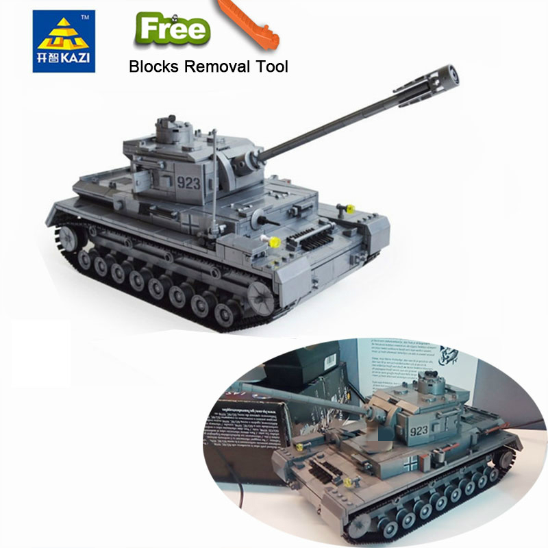 995pcs Military German King Tiger Tank Panzer IV Tank Building Blocks Compatible All Brands brand Army WW2 Soldier Weapon BrickBlocks   -