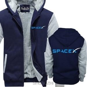 Image 2 - Spacex 社スペース × SPACE X エロンムスクファン宇宙科学ロゴパーカーファルコン男性厚いパーカー暖かいコート sbz4464