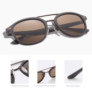 Image 5 - AOFLY العلامة التجارية مصمم الكلاسيكية نظارات شمسية مستقطبة الرجال النساء خفيفة TR90 إطار النظارات الشمسية المستديرة للذكور Gafas Oculos دي سول