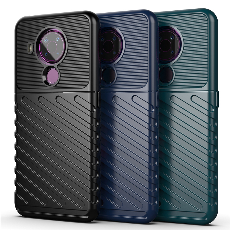 For Nokia 5.4 Case Cover Shockproof Bumper Soft Rubber Armor Rugged Back Cover Nokia 5.4 5.3 3.4 2.4 Phone Case For Nokia 5.4