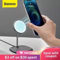 Baseus-soporte magnético de escritorio para móvil, cargador inalámbrico para iPhone 12 Series, 10W