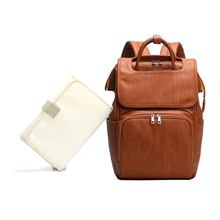 Premium New Large Capacity Maternity Nappy Diaper Bags PU Leather Mummy Travel Backpack Multi Function Organizer