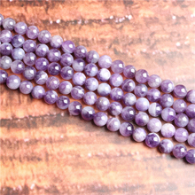 Dream Amethyst  Natural Stone Beads Loose Stone Beads For Jewelry Making DIY Bracelets Necklace Accessories 4/ 6/8/10mm