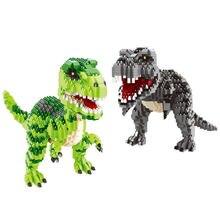 Diamante jurássico dinossauro parque mundo 2 mini blocos modelo blocos de construção tijolos t rex indoraptor conjuntos kits tiranossauro