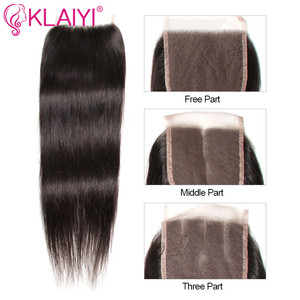 Image 3 - KLAIYI HAIR Malaysian Straight Hair Bundles With Closure 100% Human Hair Extension 3 Bundles With Closure Remy Hair FreeShipping