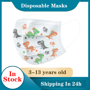 High-Quality Disposable 3 Layers Meltblown Non-Woven Mask Filter Kids Mouth Mask Ear Hanging Breathable Child Face Masks