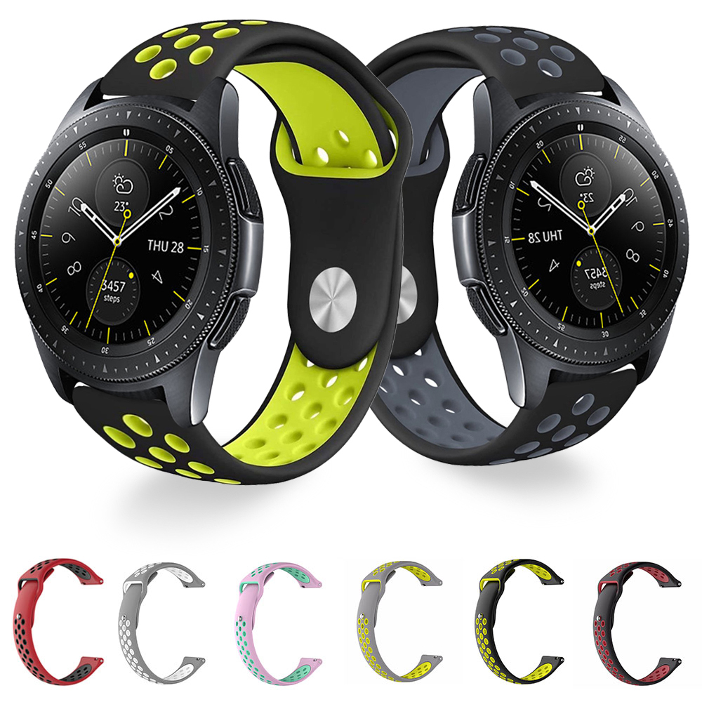 Silicone Band for Samsung Galaxy 46mm 42mm Gear S3 S2 Active 2 <font><b>Strap</b></font> 22mm <font><b>20mm</b></font> Huami Amazfit GTR <font><b>GTS</b></font> Bip Huawei <font><b>Watch</b></font> GT 2 image